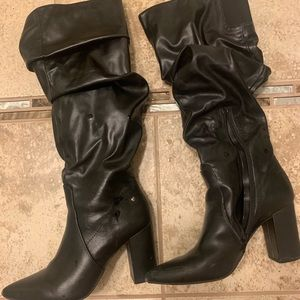 VeraWang black slouch boots